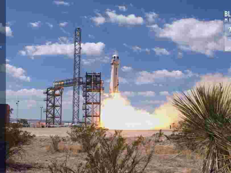 Blue Origin de Jeff Bezos réussit le décollage et l'atterrissage de sa fusée lors d'un vol d'essai impeccable