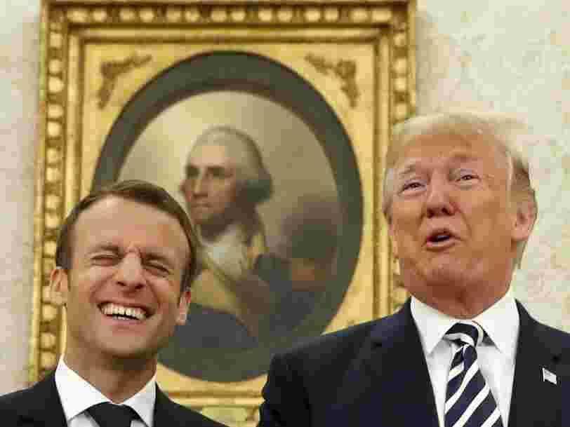 Donald Trump et Emmanuel Macron ont une relation particulière — ces photos de la visite d'Etat du président français le montrent