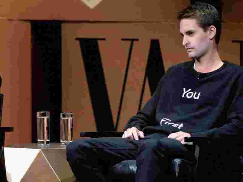 Snapchat refait le design de son appli — le CEO Evan Spiegel admet qu'elle est trop difficile à utiliser