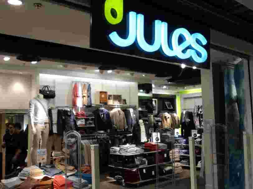 Le groupe derrière les enseignes Jules et Brice prévoit de supprimer 10% de ses effectifs