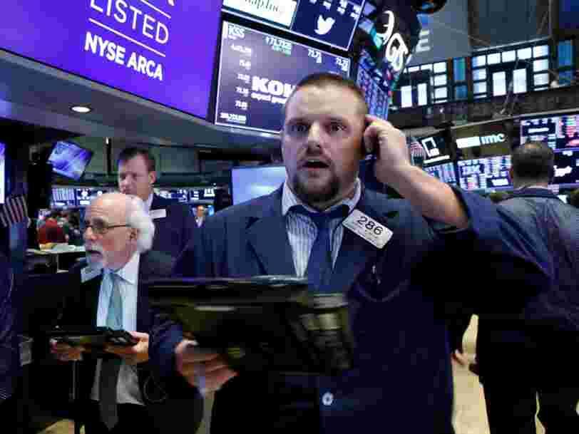 Les marchés européens s'affichent dans le rouge après la chute de Wall Street et des Bourses asiatiques