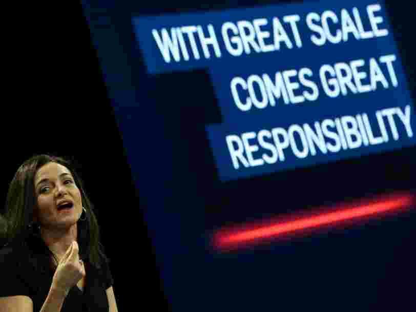 Sheryl Sandberg dit qu'une seule question de Mark Zuckerberg permet de rester sur la bonne voie lors des réunions