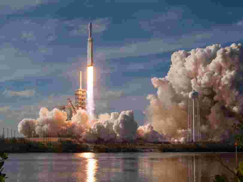 Test clé de la Falcon Heavy, la fusée qui pourrait faire revenir les humains sur la Lune
