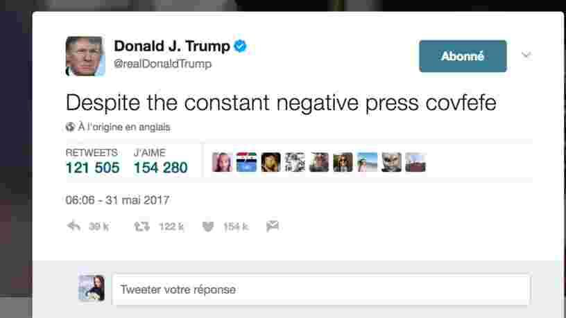 Des internautes essaient de percer le mystère d'un tweet incompréhensible de Donald Trump, et c'est très drôle