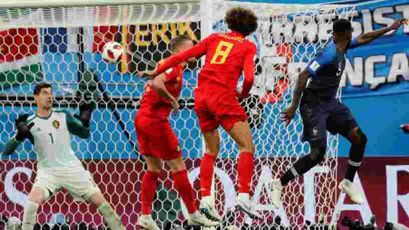 EN IMAGES: Les Français exultent après que l'équipe de France se qualifie pour la finale de la Coupe du monde de foot en Russie