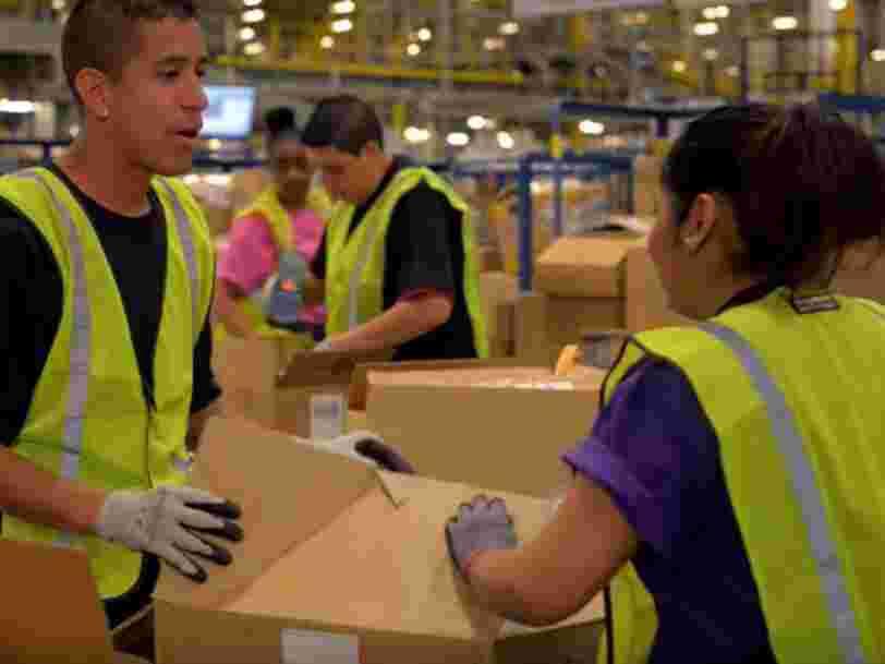Amazon recrute 7500 personnes en France avant les fêtes — voici ce que l'entreprise propose