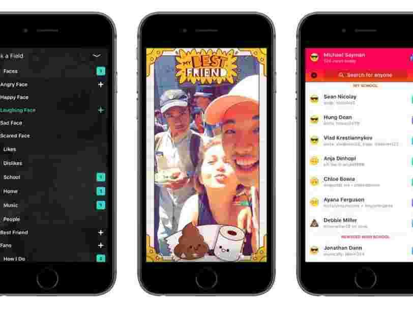 Facebook vient de tuer l'appli pour ados copiée de Snapchat qu'il avait lancé discrètement l'an dernier