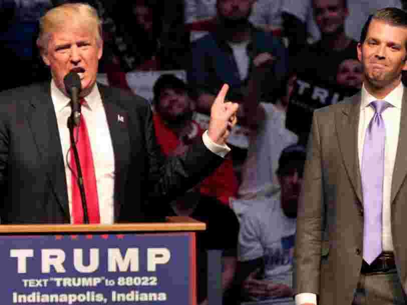 Le fils de Donald Trump était en contact avec WikiLeaks pendant la présidentielle américaine — voici ce qu'il s'est passé