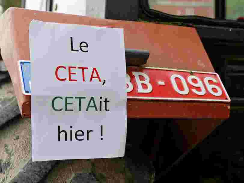 28 pays européens ont négocié pendant 5 ans un accord avec le Canada —voici comment une région de Belgique le bloque