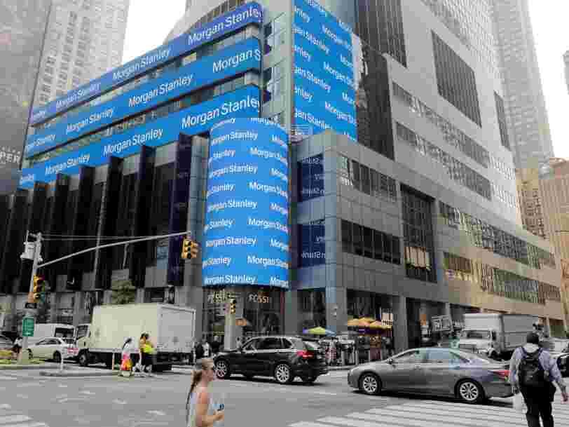 Morgan Stanley grimpe à la Bourse de New York après ses résultats trimestriels