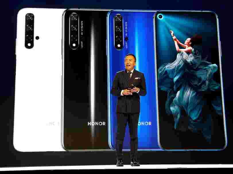 Huawei envisagerait déjà de retirer de la vente le prochain Honor 20 qui doit sortir en France le 21 juin