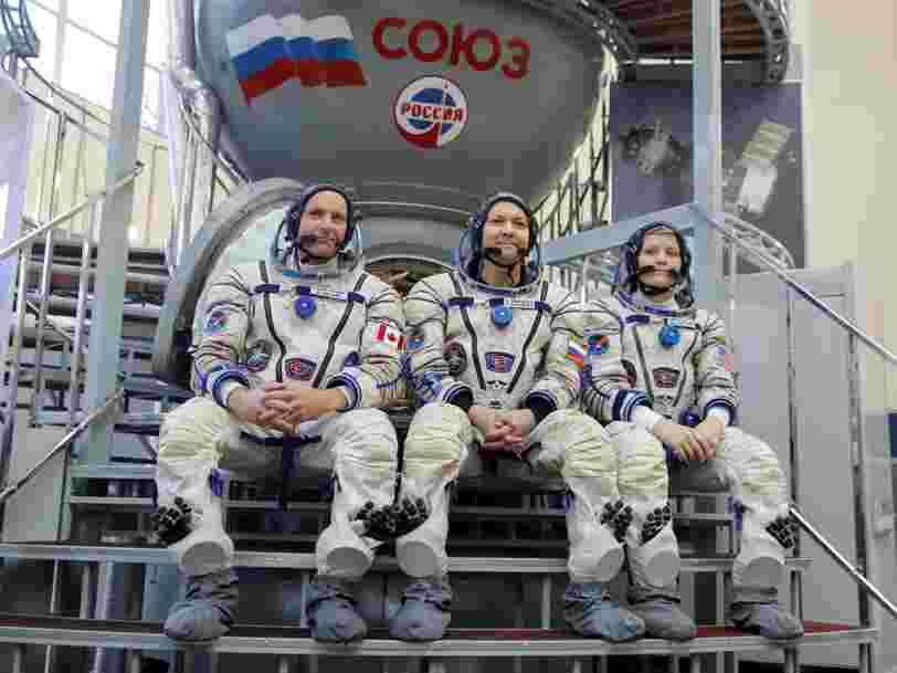 3 astronautes s'apprêtent à rejoindre l'ISS à bord d'un vaisseau russe Soyouz après le lancement raté d'octobre dernier
