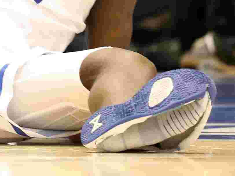 La basket Nike d'un basketteur américain explose. L'action du fabricant chute en bourse