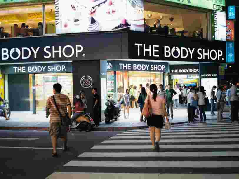 Une banque pourrait proposer 700M€ à L'Oréal pour son enseigne de cosmétiques The Body Shop qui n'a jamais décollé