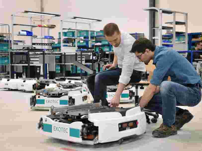 Cette startup de Lille reçoit un soutien de 15M€ pour prouver que ses robots autonomes préparent les commandes encore plus vite que ceux d'Amazon