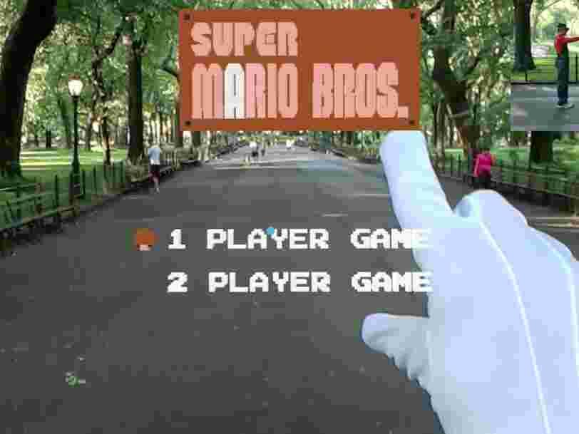 Un développeur a recréé le premier niveau de 'Super Mario Bros' en réalité augmentée et y a joué à Central Park