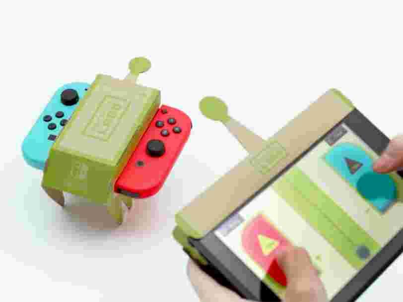 Nintendo vient de dévoiler Labo, une manette en carton à 69$ pour la Switch que vous devez assembler vous-mêmes