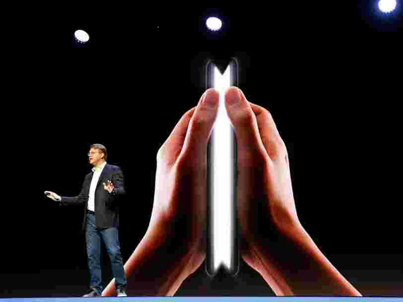 Samsung vient de révéler officiellement son smartphone pliable — voici comment il fonctionne