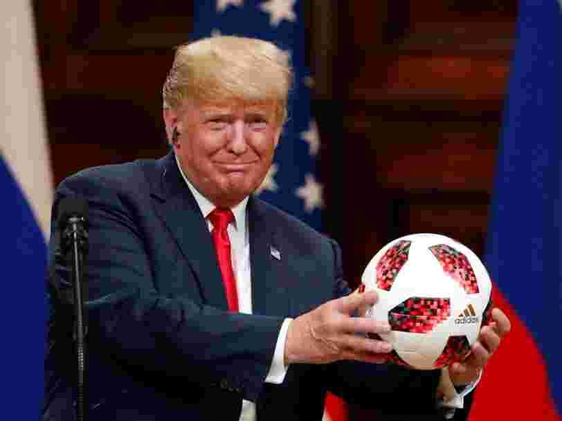 Il s'avère que le ballon de foot que Poutine a offert à Trump contient réellement un émetteur