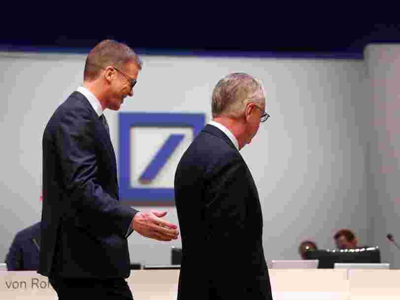Deutsche Bank supprime 18 000 emplois et réduit ses activités