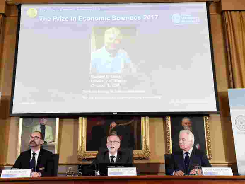 Le théoricien de la finance comportementale Richard Thaler remporte le prix Nobel d'économie 2017