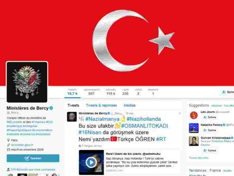 De Bercy à Amnesty International, des comptes certifiés Twitter ont été piratés pour diffuser des messages pro-Erdogan