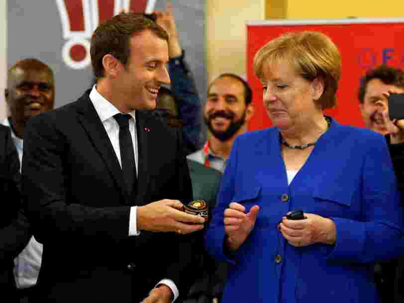 Emmanuel Macron a rallié Angela Merkel à l'appel qu'il a lancé aux chercheurs et entrepreneurs du numérique