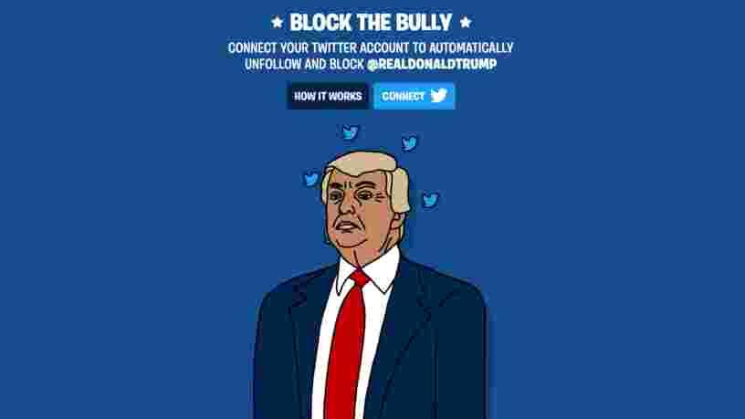 Des activistes ont lancé une appli pour 'bloquer le tyran' Donald Trump sur Twitter