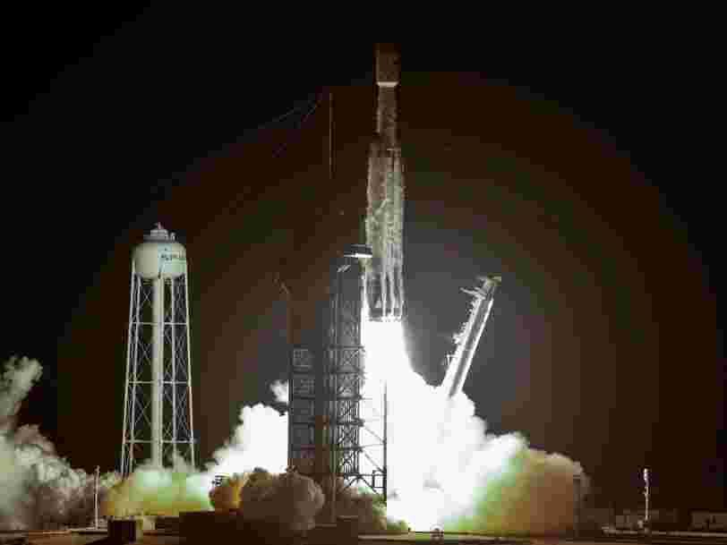 SpaceX a lancé sa fusée Falcon Heavy mais son booster central s'est écrasé dans l'océan Atlantique