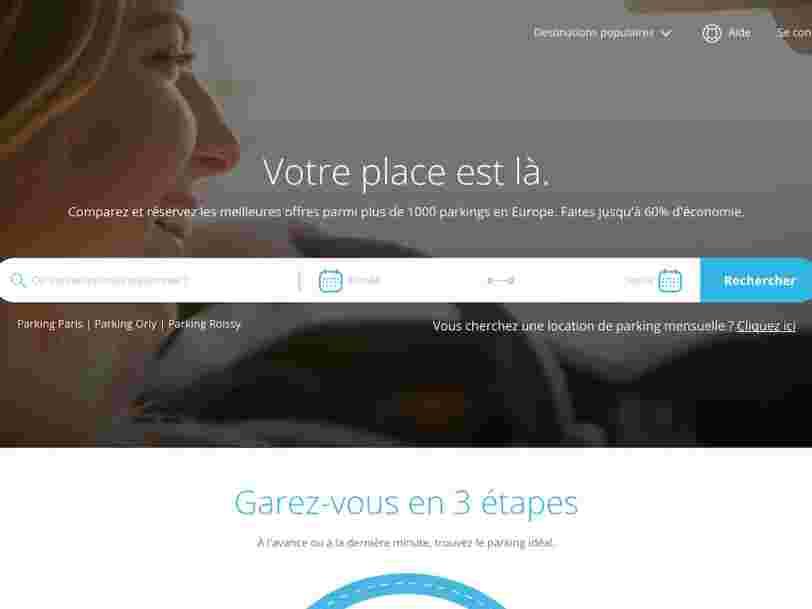 Une filiale de la SNCF investit 12M€ dans la réservation de places de parking en ligne à la carte