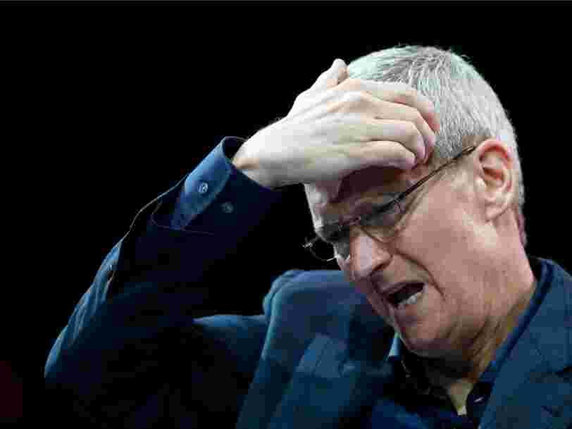 Apple chute en Bourse à cause de rumeurs sur la réduction de commandes d'iPhone 8