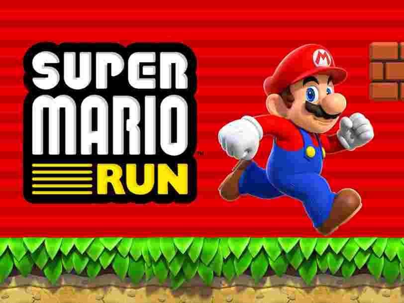 'Super Mario Run' a été téléchargé 78 millions de fois — mais moins de 10% des gens ont déboursé les 9,99€ pour l'acheter