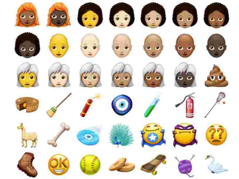Voici un premier aperçu de tous les nouveaux emoji qui arriveront l'année prochaine