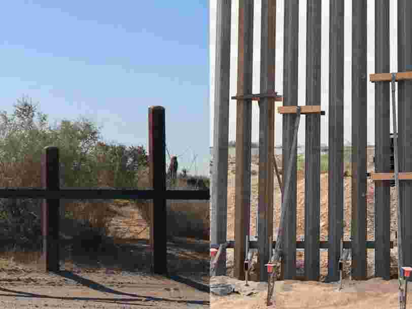 L'administration Trump vient de dévoiler des photos du 'mur frontalier du président' en cours de construction, et il ressemble beaucoup à une clôture à piquets — regardez