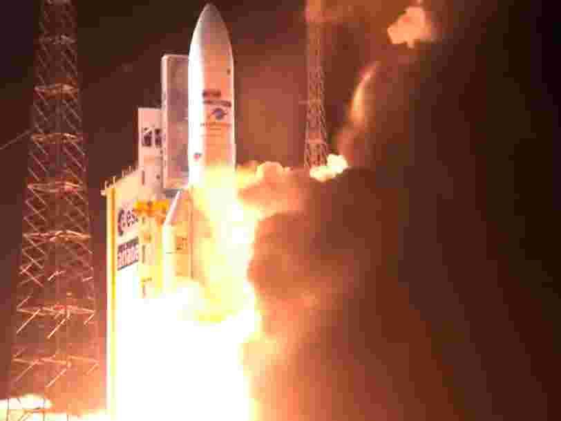 La fusée Ariane 5 a réussi le 100e lancement depuis son début de services il y a 22 ans — revivez ce vol historique