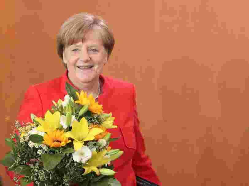 Un jour dans la vie de la chancelière Angela Merkel, ancienne physicienne qui côtoie les grands de ce monde et peut tenir avec 4 heures de sommeil
