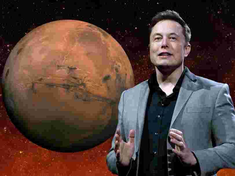 Elon Musk a publié un article scientifique qui détaille son plan pour coloniser Mars avec 1 million de personnes