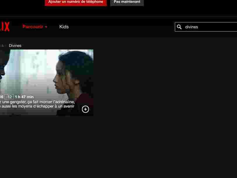 Le film 'Divines' ne devait pas sortir sur Netflix France avant 2019 — un bug l'a rendu momentanément disponible