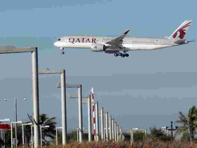 Une carte montre à quel point la crise diplomatique dans le Golfe est problématique pour Qatar Airways