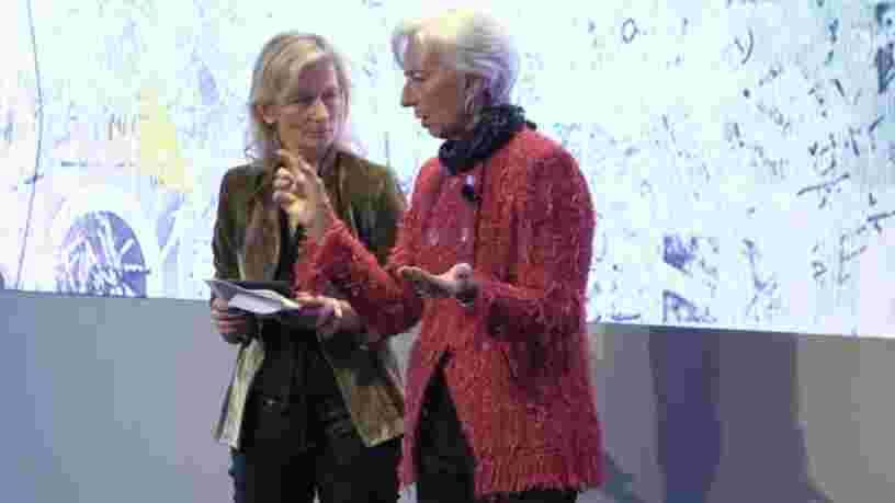 Christine Lagarde a présenté un graphique éloquent à Davos qui montre pourquoi les inégalités économiques menacent toute une génération de jeunes Européens