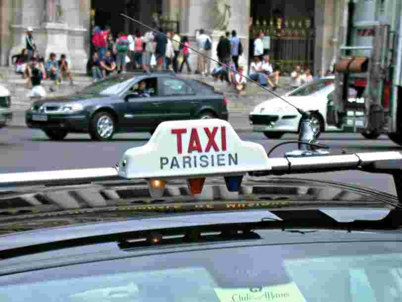 Le nombre de délits pour 'exercice illégal de l'activité de taxi' à Paris a doublé en un an
