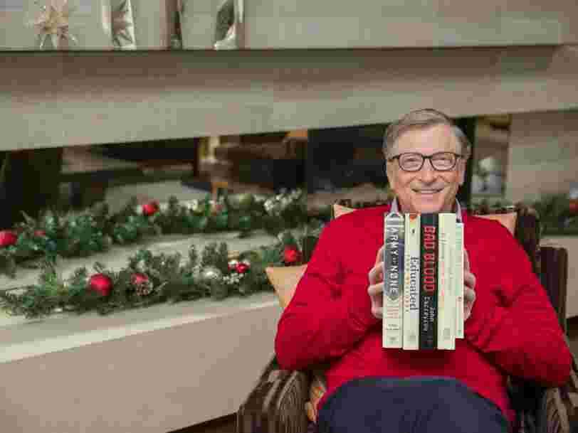 Bill Gates révèle ses 5 livres préférés de l'année 2018