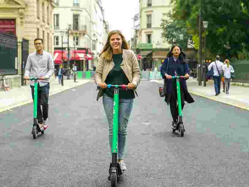 Paris compte maintenant 10 services de trottinettes en libre-service, certains vont être forcés d'abandonner
