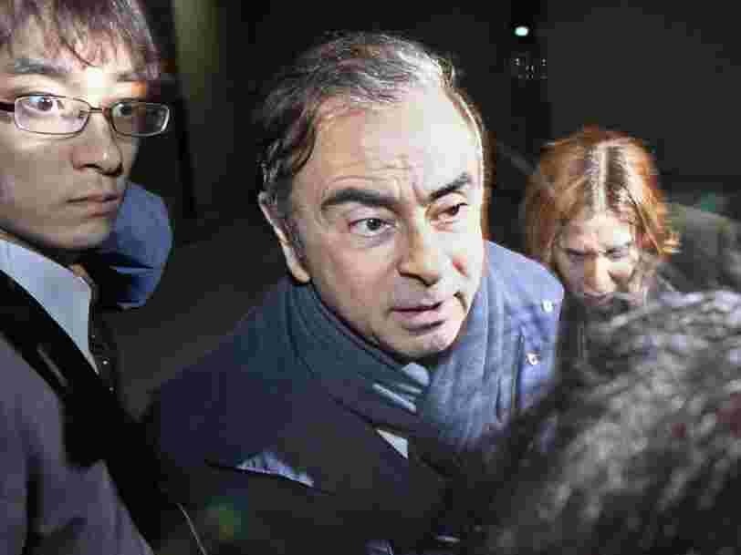 Carlos Ghosn a de nouveau été arrêté au Japon et risque d'être inculpé pour une 4e fois