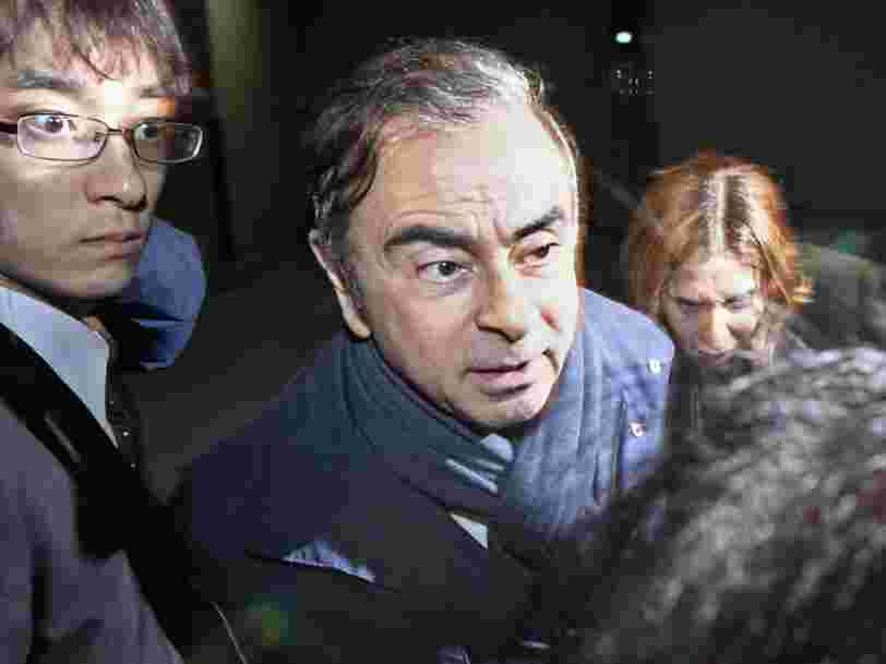 Carlos Ghosn a été libéré après avoir payé une caution de près de 4 millions d'euros