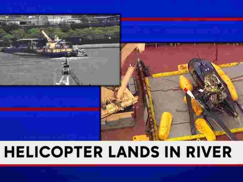Une vidéo du crash d'un hélicoptère dans l'Hudson River à New York a été diffusée