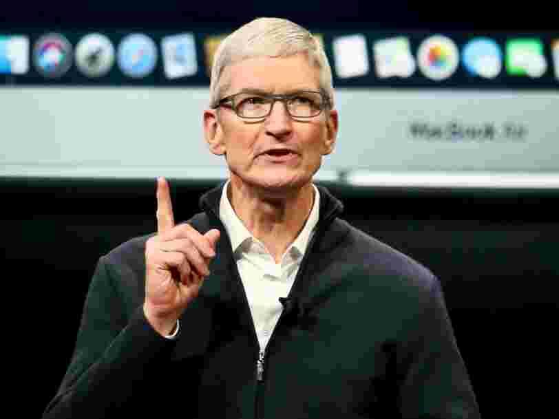 Apple recule après des ventes d'iPhone décevantes et la perspective d'une fin d'année dans le bas de la fourchette