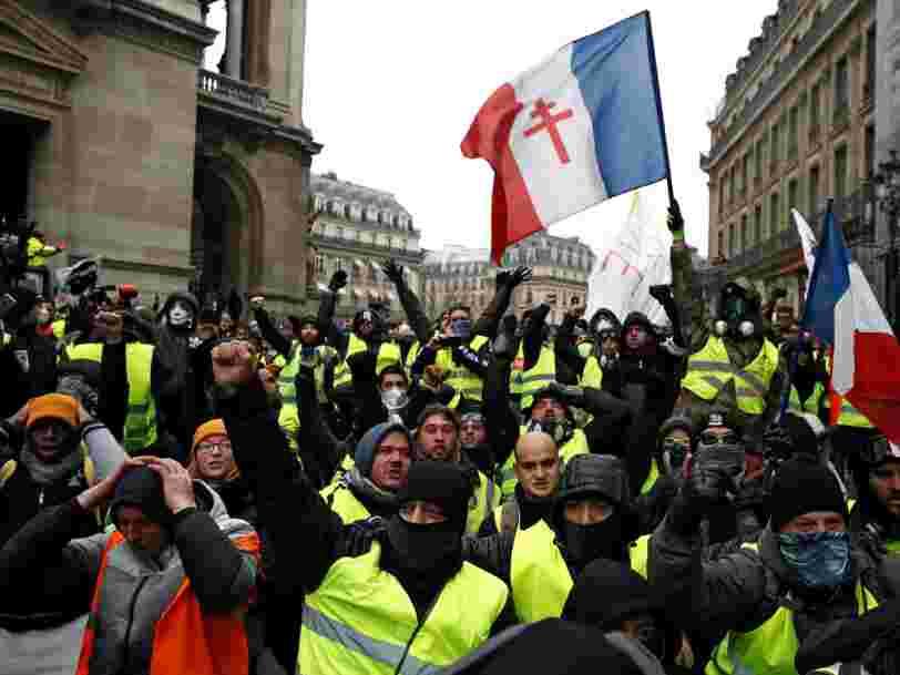 La mobilisation des 'Gilets jaunes' était en forte baisse pour la 5e journée de manifestation en France
