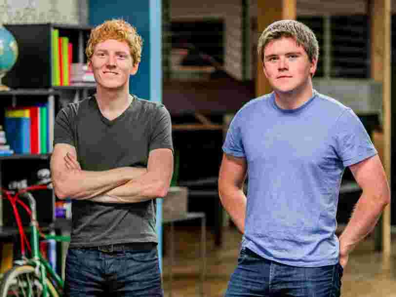 La startup fintech Stripe, créée il y a 5 ans par deux Irlandais, vaut désormais plus de $9Mds
