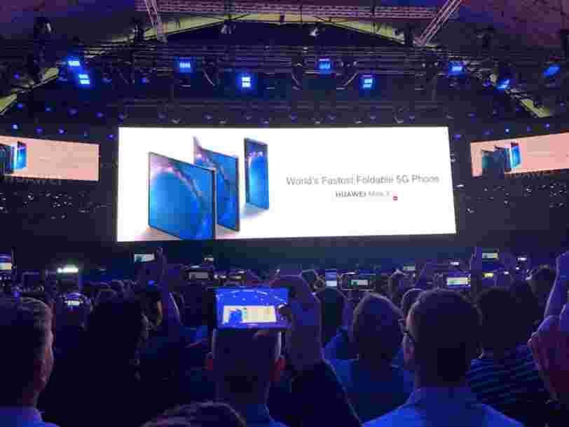 Voilà à quoi ressemble le Mate X, le smartphone 5G pliable de Huawei
